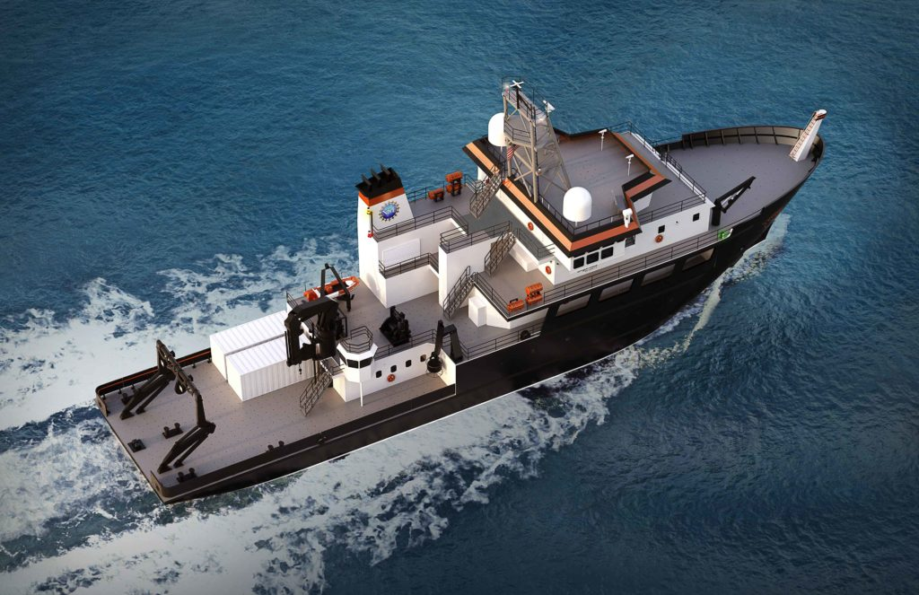 Regional Class Research Vessel equipped with HAMANN sewage and wastewater management system